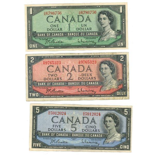 1954 Canadian Bill Set