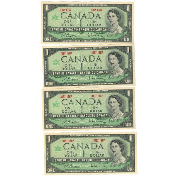 Lot of 9 1967 Comm Dollars