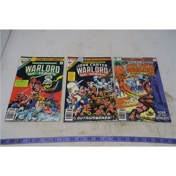 War Lord of Mars, 1977 and 1978, 50 and 60 cents
