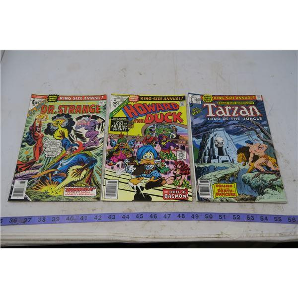 Dr Strange, 50 cents, 1976 and Howard the Duck, 50 cents 1977, Tarzan 60 cent 1978 #2