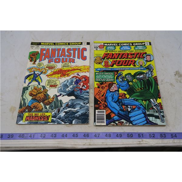 The Fantastic Four, 20 cents, 1973 #138 and 60 cent, 1978 #200