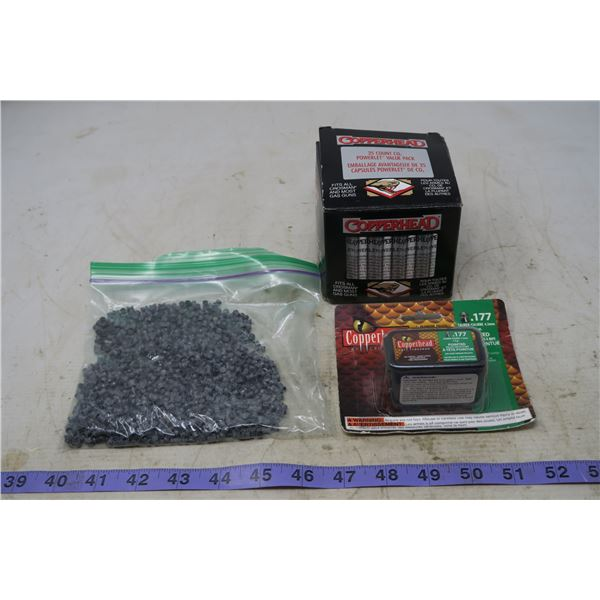 Air Gun Pellets + Co2 Cartridges