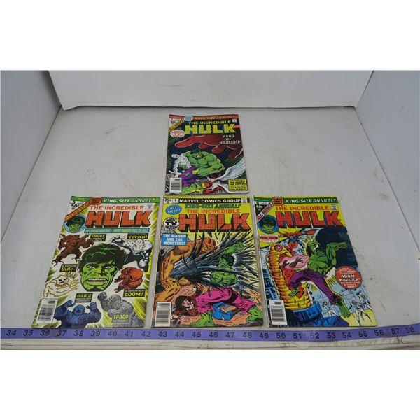 The Incredible Hulk , 50, 60, 75 cents, 1976-79