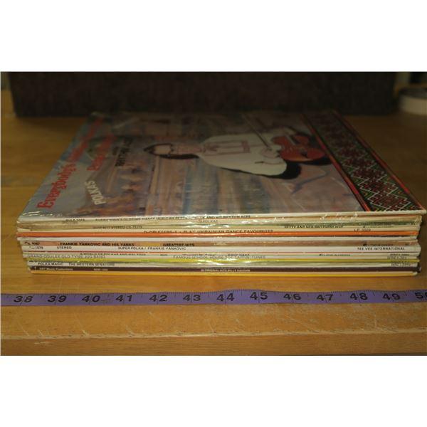 Lot 15 Polka and Ukrainian Records