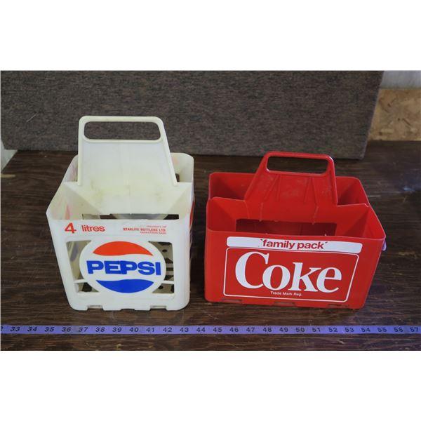 Lot of Vintage Soda Crates, 1 Coke, 1 Pepsi