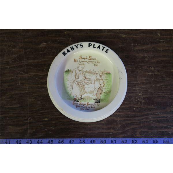Carlton Ware - Baby's Plate