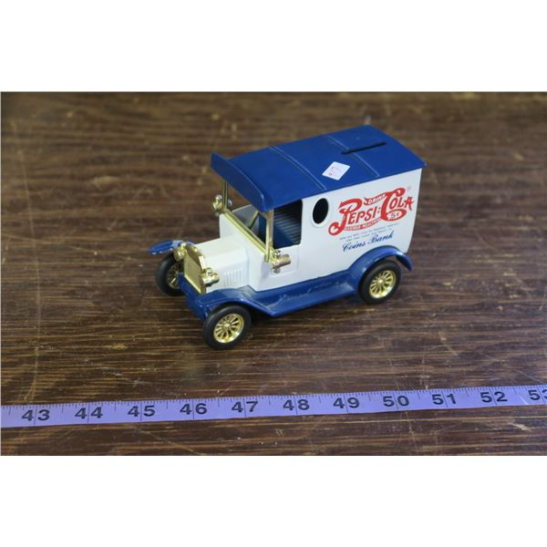 Pepsi Themed Coin Bank Truck