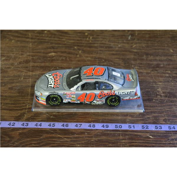 #40 Coors Light  Silver Nascar,  Model with case base
