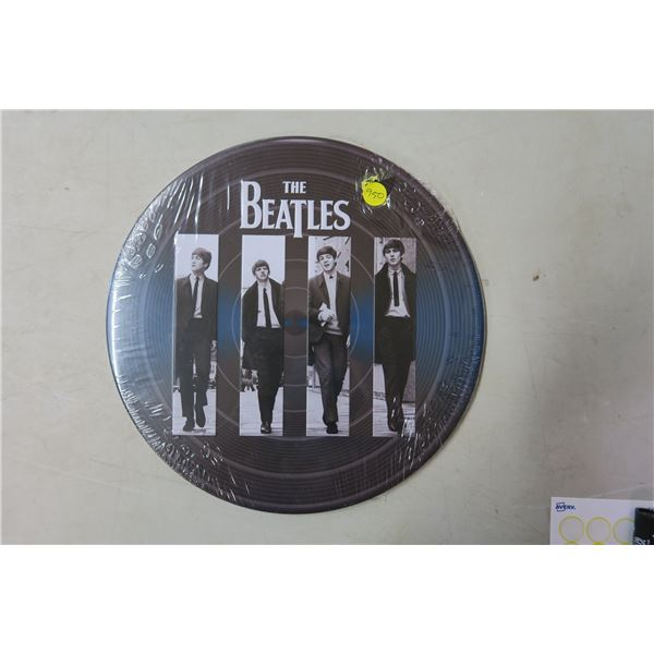 Beatles Metal Record Sign/Picture
