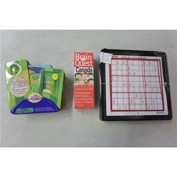 Ballpark Cranium/BrainQuest Canada Game/Sudoku Game