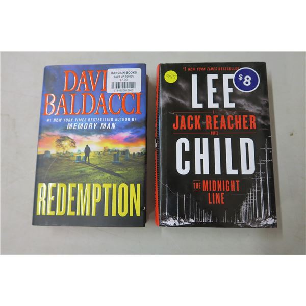 Books X3 - Redemption by David Baldacci/The Midnight Line by Lee Child/Low Pressure by Sandra Brown