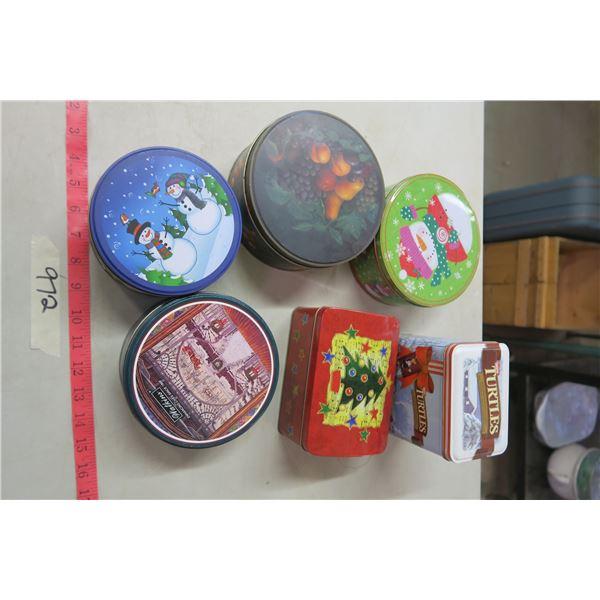 6X Holiday Tins