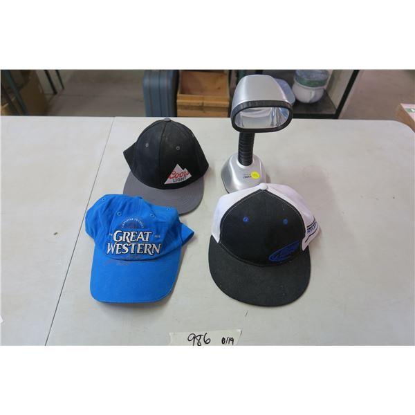 3X Baseball Caps and Outdoor Flashlight