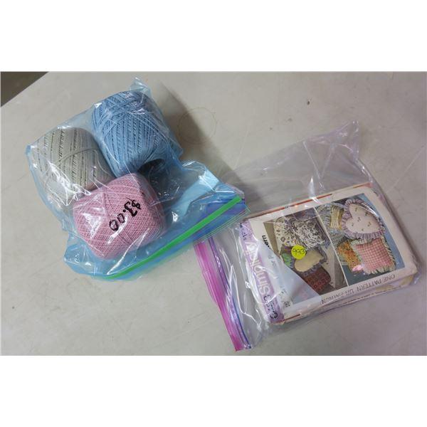3 Balls of Yarn and Patterns