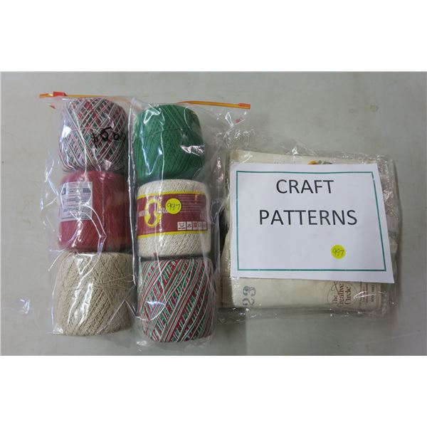 6 Balls of Yarn and Patterns