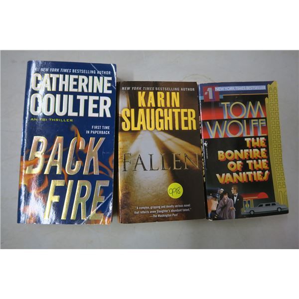 3 Fiction Books - Softcover