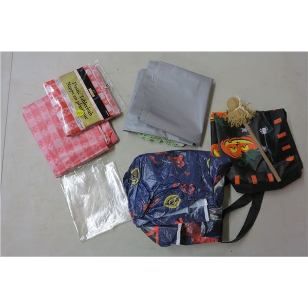 Halloween Candy Bags and Plastic Table Clothes