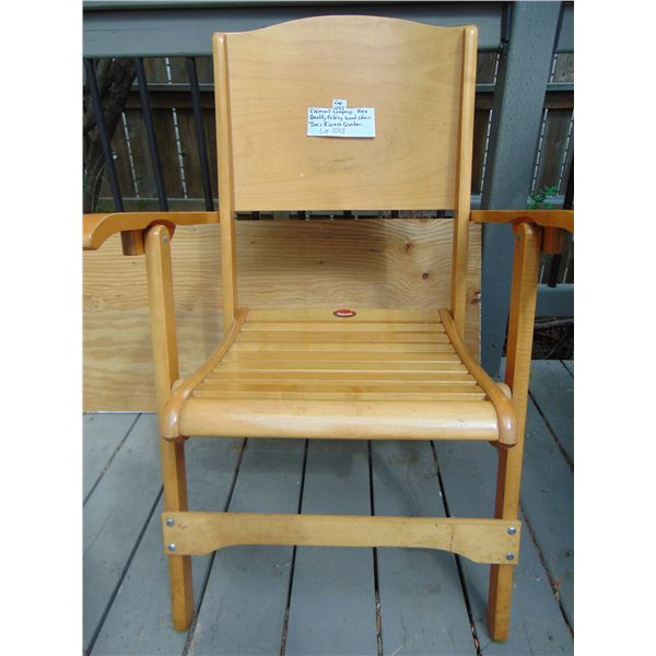 1043 TROIS RIVIERE CLEMENT COMPANY HIGH QUALITY FOLDING CHAIR