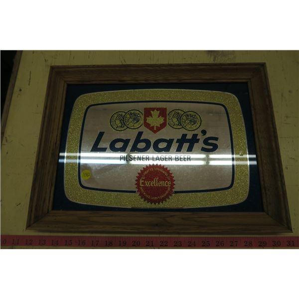 """Labatt's Beer Mirror Picture - 18""""X13"""""""