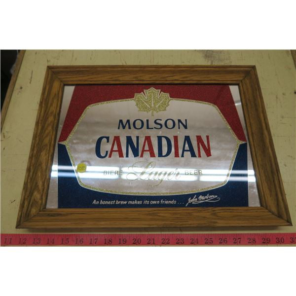 """Molson Canadian Mirror Picture - 18""""X13"""""""