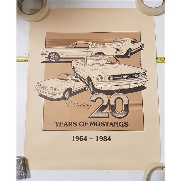 Roll of 3 Identical Ford 1964-1984 Posters