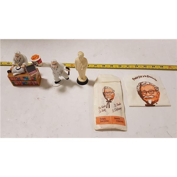 Vintage KFC Figurines / Napkin Set