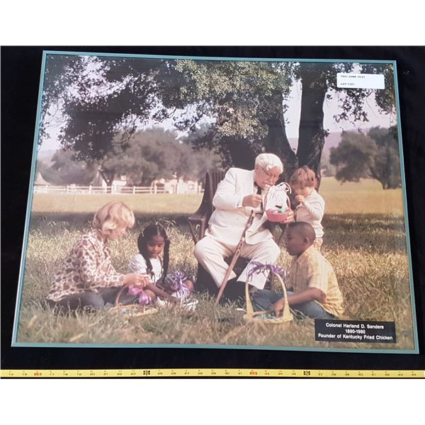 Colonel Sanders In A Park Framed Photo