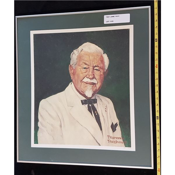 Norman Rockwell : Colonel Sanders Print