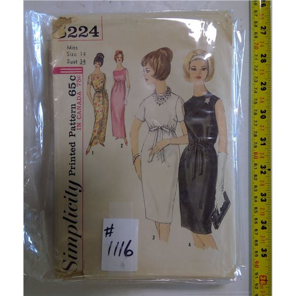 Lot of 6 Vintage Sewing Patterns
