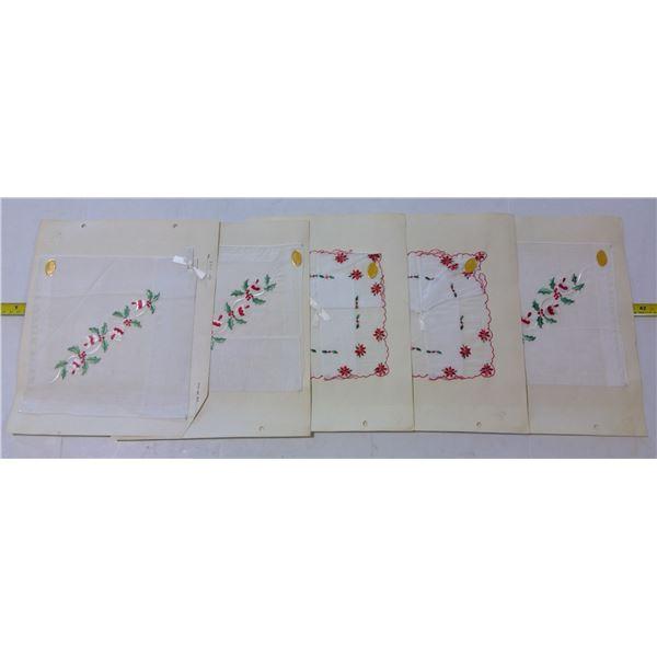Salesman Hanky Samples, Christmas Motifs, Made in Switzerland (5)