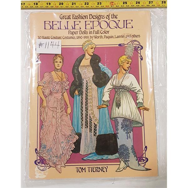 Paper Doll Book, Belle Epoque, 16 Plates, 1982, Mint, Uncut
