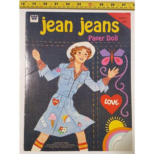 Paper Doll Book, Jean Jeans, 1975, Mint, Uncut