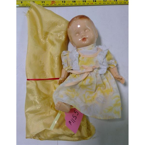 Pedigree Plastic Baby Doll, Sleepy Eyes, Moving Joints, 1950's, Made in England