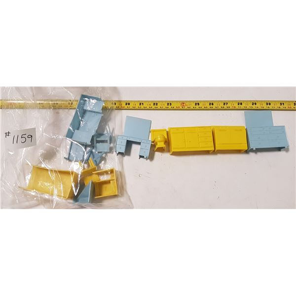 """Lot of """"Superior"""" Brand Plastic Doll House Furniture"""