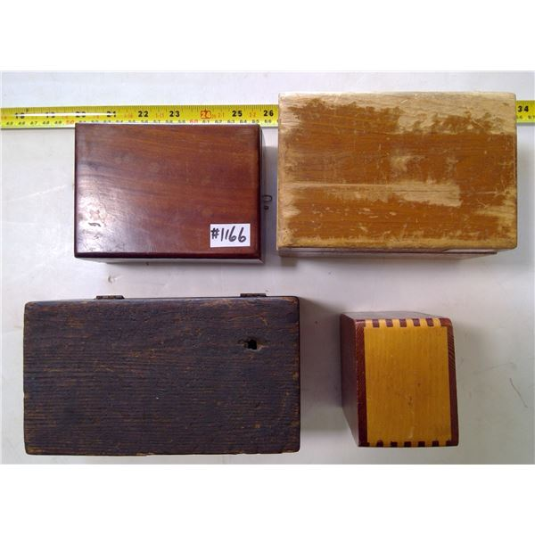 Small Handmade Wood Boxes (4)