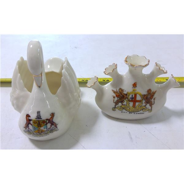 Crested Porcelain Miniature Souvenirs, by Florentine, England (2)