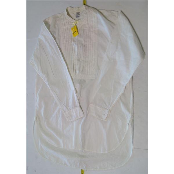 "Broadcloth Evening Shirt, Dumfries Scotland, Circa 1925, 15"" neck"