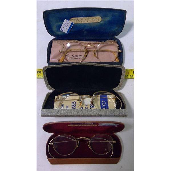 Vintage Eyeglasses, 3 Pair