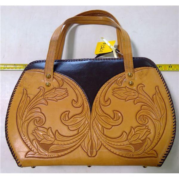 Leather Tooled Handbag, very good condition