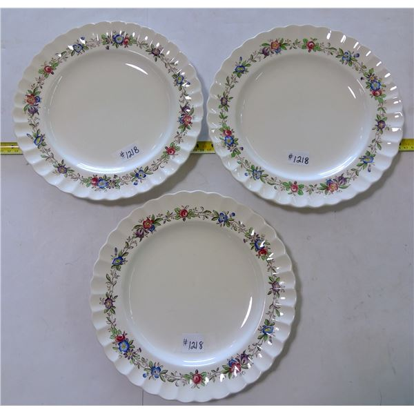 """Spode Dinner Plates, 10"""", Felicity Pattern, Made in England (3)"""