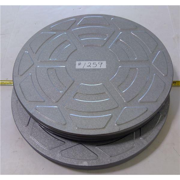 """Kodak Movie Reel Tins, 18"""" (2)"""