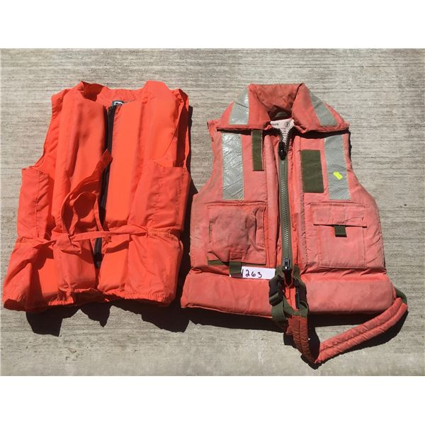 Water ski vest size XL and personal floatation device size extra extra small