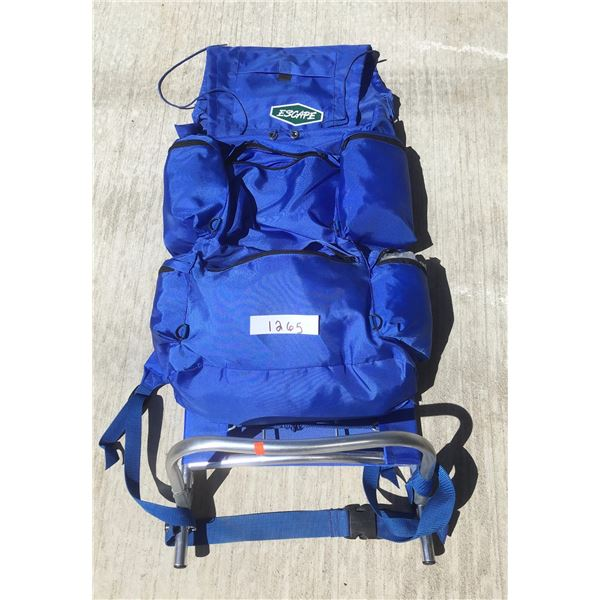Escape, blue pack with frame