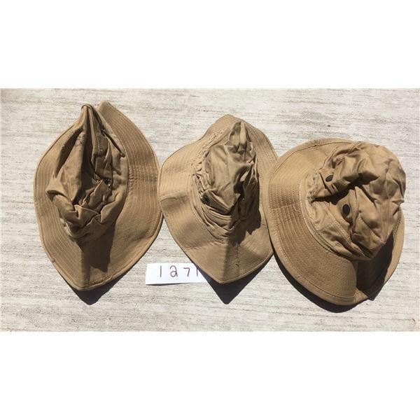3 British Military Boonie hats