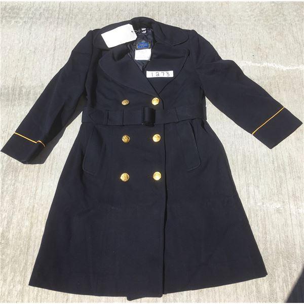 New US Navy womens overcoat, navy color, size 14S