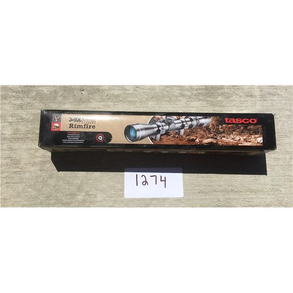 Tasco 3-9x32 rimfire scope