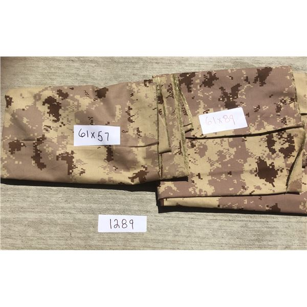 """camo cotton blend fabric 61""""x57"""" and 61""""x89"""""""