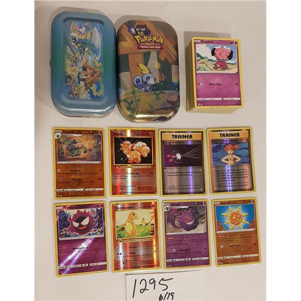 Pokemon Cards – 80 cards/2 Tins/8 Hologram Cards (Includes Charmander) Pack Fresh
