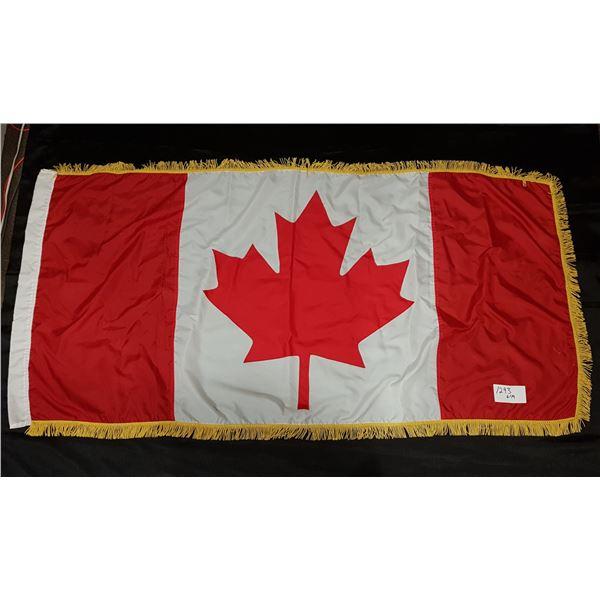 """Fully Stitched with Bullion Fringe Canada/Canadian FLAG 75""""X36"""""""