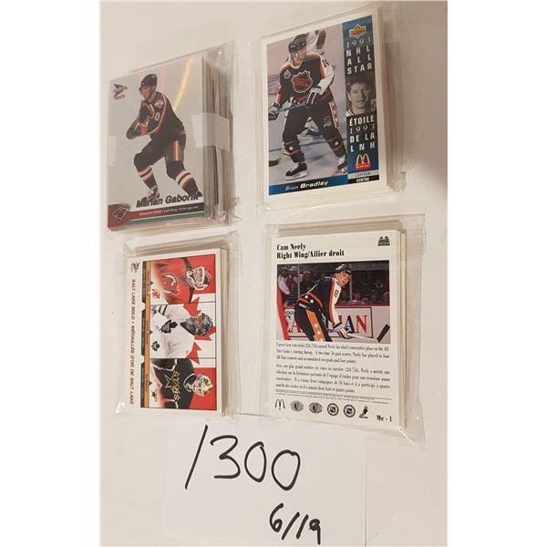 McDonald's NHL Hockey Cards 4 Complete Sets – Upper Deck 91&93)(02' Pacific Platinum Salt Lake City